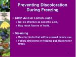 preventing discoloration during freezing38