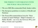 the perfect convergence with the public health policy