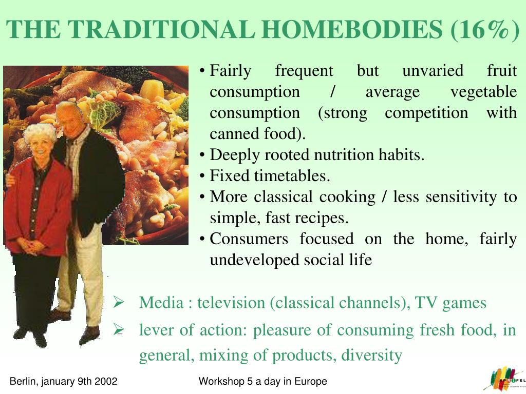 THE TRADITIONAL HOMEBODIES (16%)