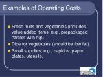 examples of operating costs