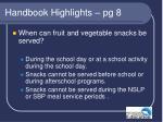 handbook highlights pg 8