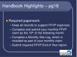 handbook highlights pg18