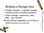 building a storage area