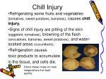 chill injury