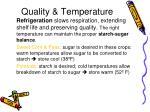 quality temperature