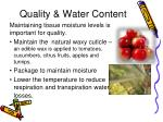 quality water content