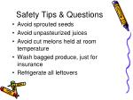 safety tips questions