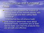 phytochemicals and functional foods84