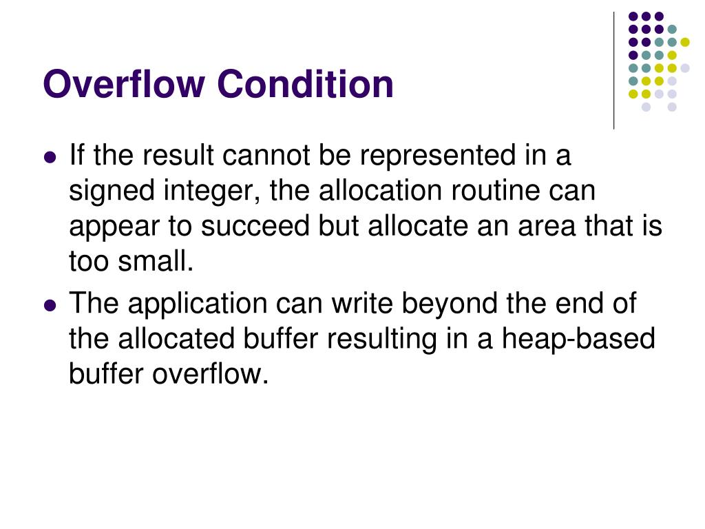 Overflow Condition
