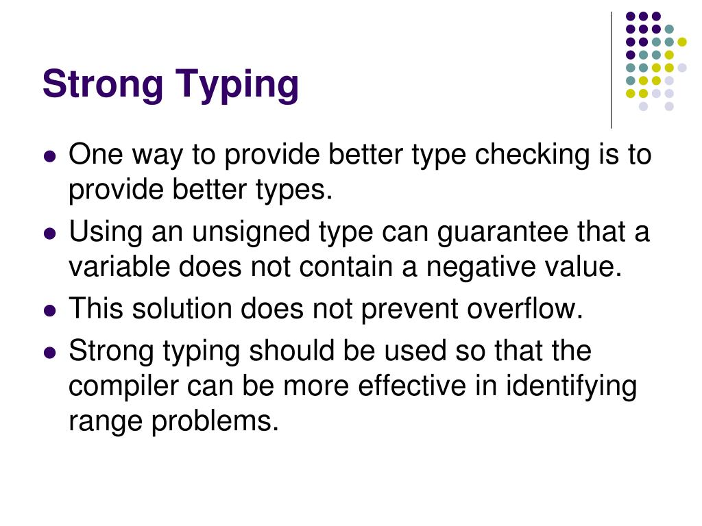 Strong Typing