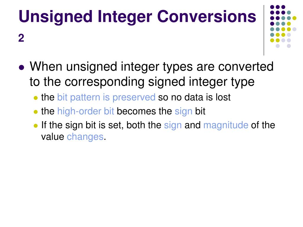 Unsigned Integer Conversions