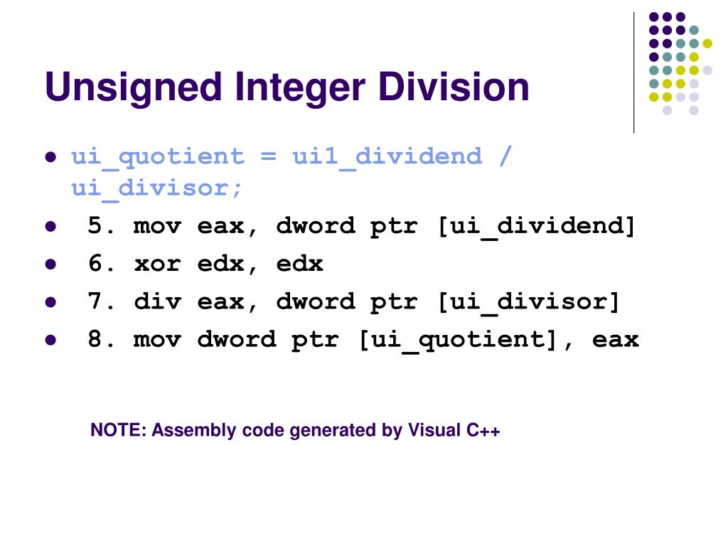 Unsigned Integer Division