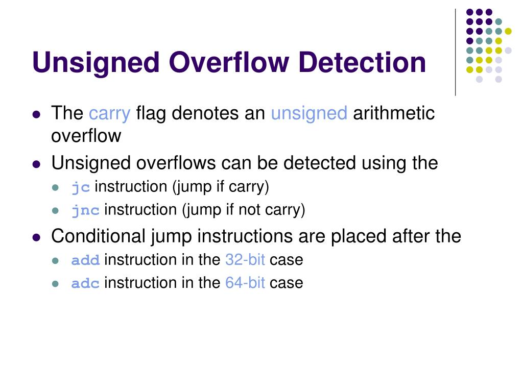 Unsigned Overflow Detection