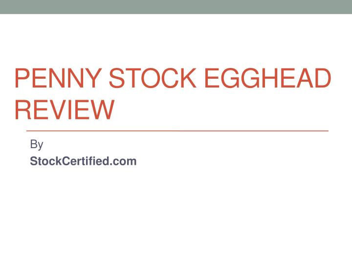 penny stock egghead review n.