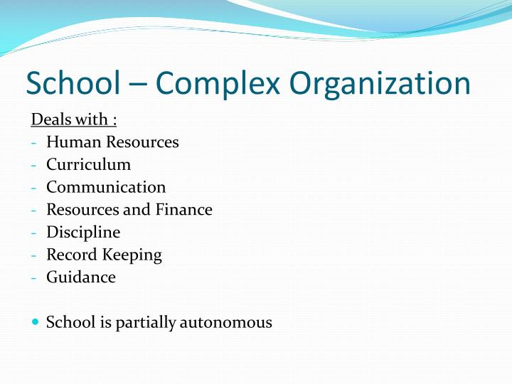 PPT Organizational Structure For Effective School Management