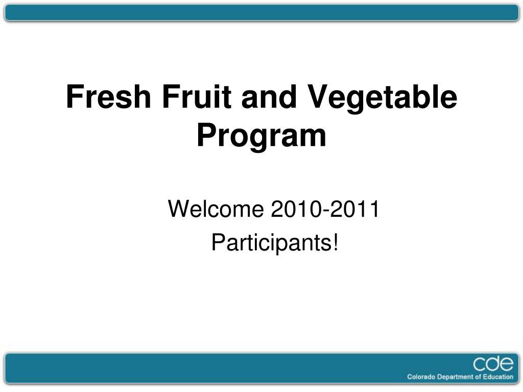 fresh fruit and vegetable program l.