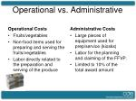 operational vs administrative