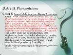 d a s h phytonutrition