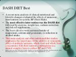 dash diet best