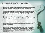 endothelial dysfunction ed