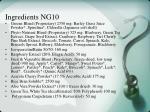 ingredients ng10