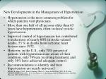 new developments in the management of hypertension