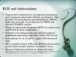 ros and antioxidants