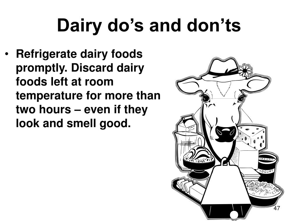 Dairy do's and don'ts