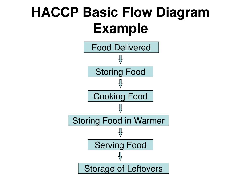 HACCP Basic Flow Diagram Example