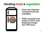 handling fruits vegetables