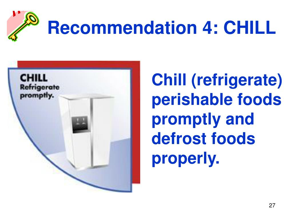 Recommendation 4: CHILL