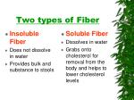 two types of fiber