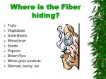 where is the fiber hiding