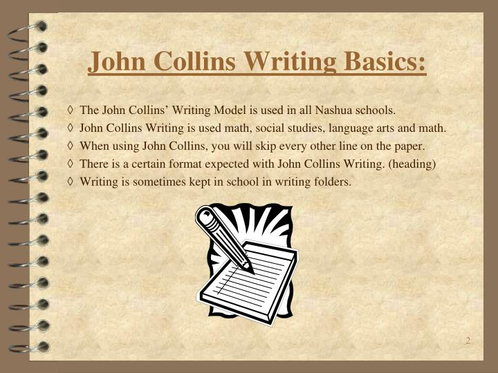 john collins essay format Mary, i couldn't agree with you more our administrators bought into the writing collins process without consulting teachers maybe in the lower levels, this system works, but it does not in the high school for the reasons you mentioned.