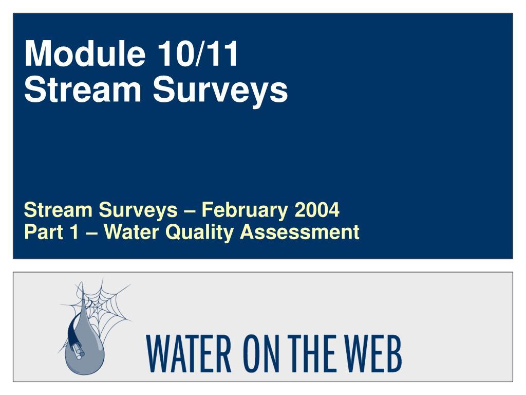 module 10 11 stream surveys l.