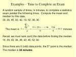 examples time to complete an exam