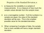 properties of the standard deviation s
