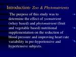 introduction zoo phytonutrients