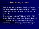 results weight hrv