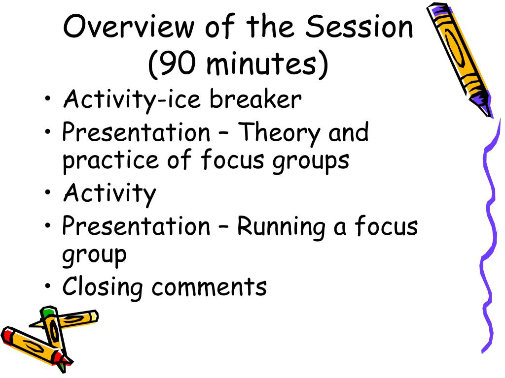 Overview of the Session (90 minutes)