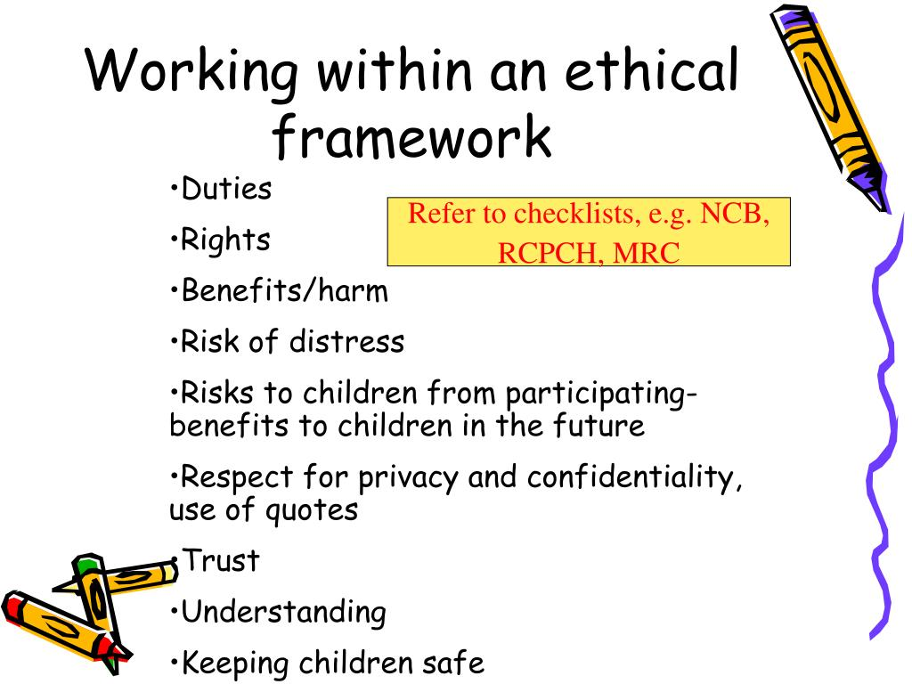 Working within an ethical framework