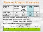 revenue analysis variance