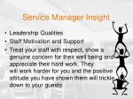 service manager insight
