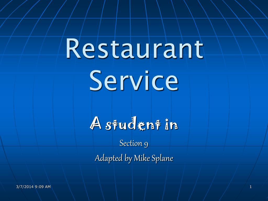 restaurant service l.