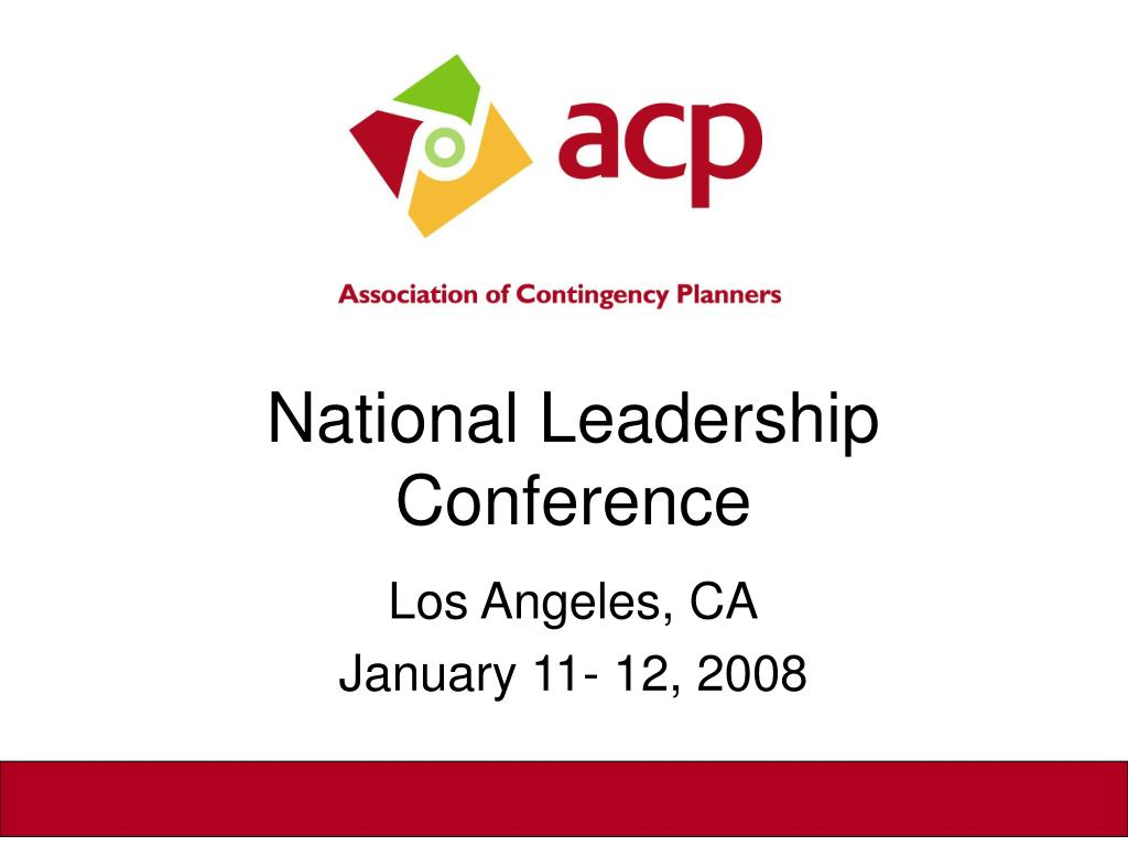 national leadership conference l.