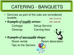 catering banquets