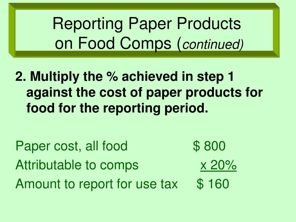reporting paper