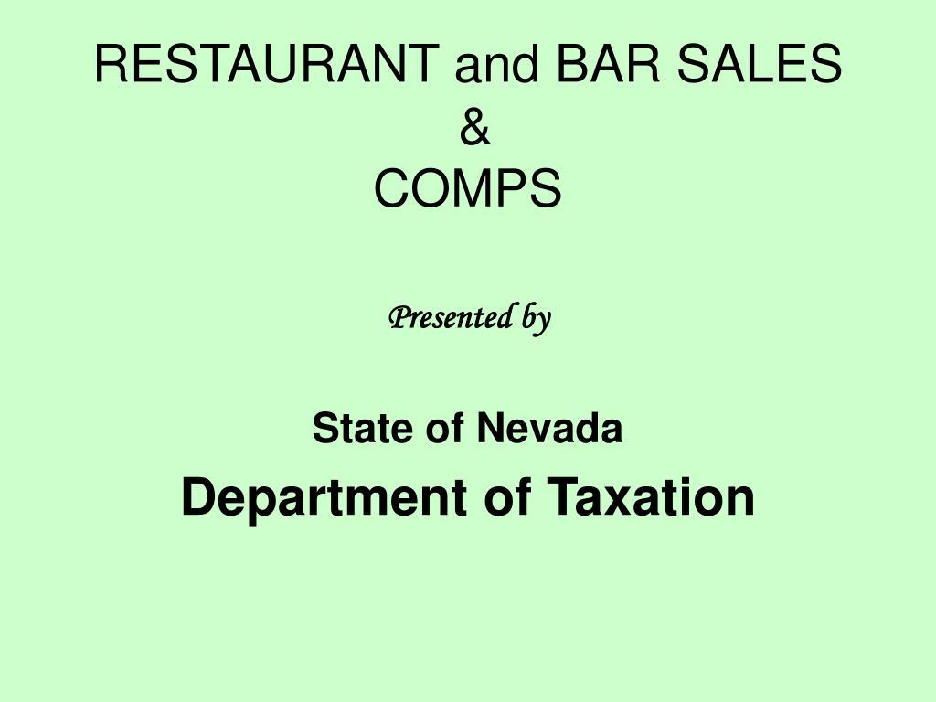 restaurant and bar sales comps l.