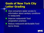 goals of new york city letter grading