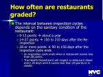 how often are restaurants graded